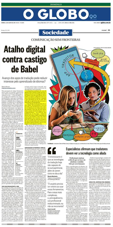 IBEU - O Globo/Sociedade