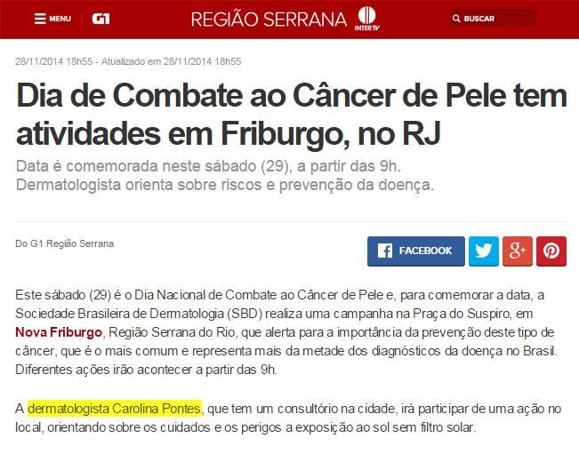 Dra. Carolina Pontes - G1