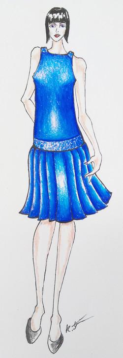 Cobalt Evening Dress