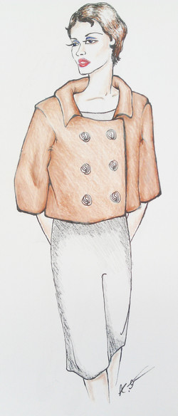 Double Breasted Swing Coat