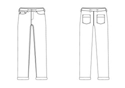 Technical Flat - Jeans