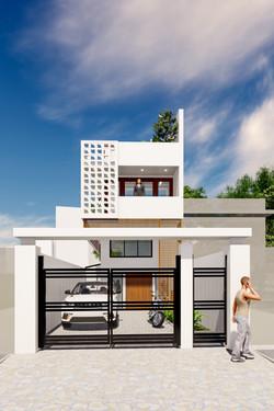New shophouse facade
