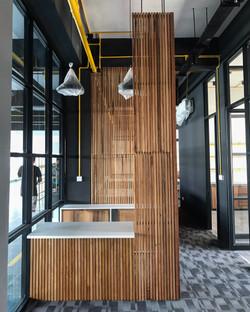 Reception desk view- finish design