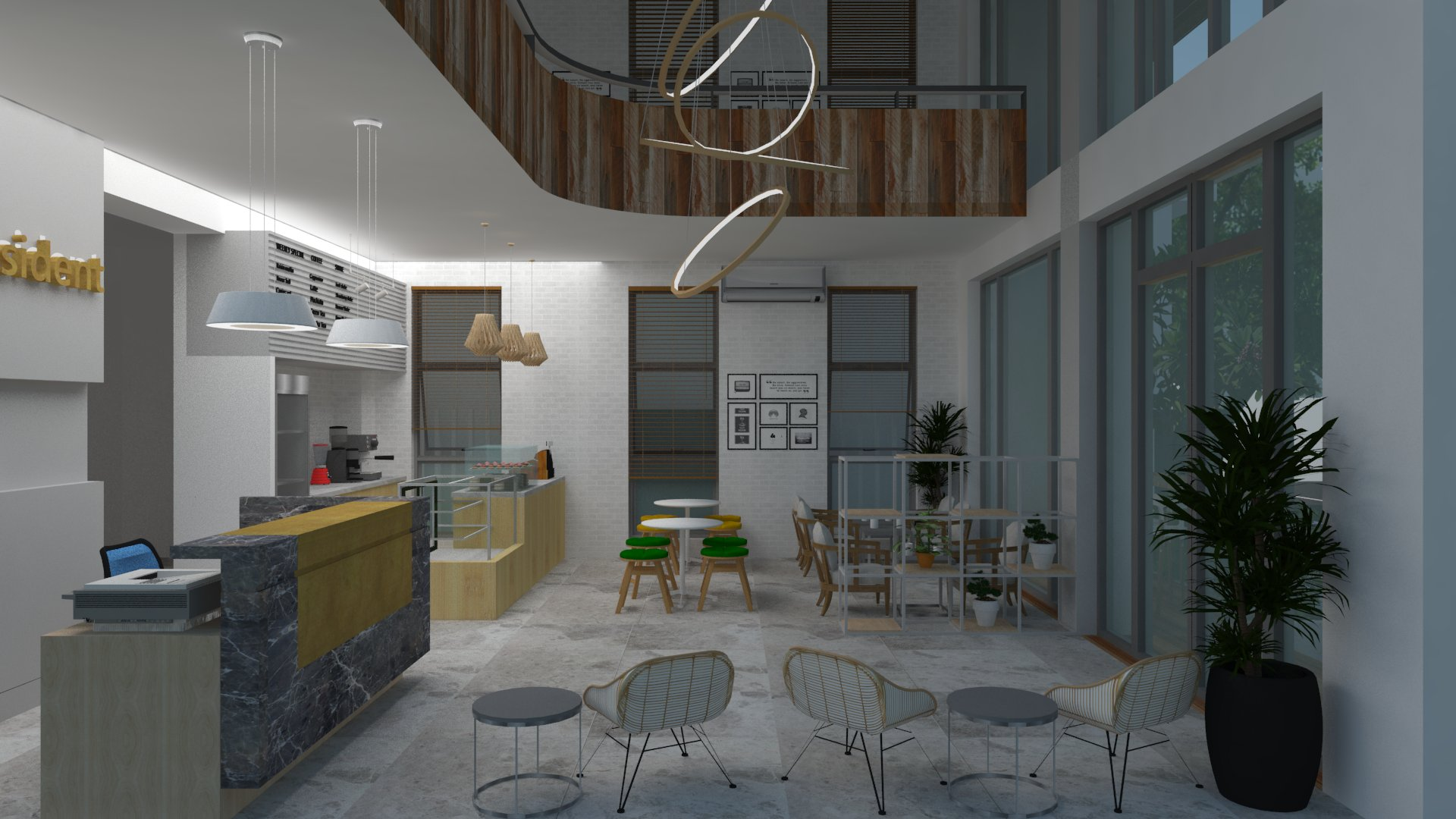 3D coffee space view