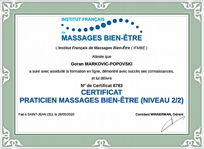 Certificat Bien-être 2