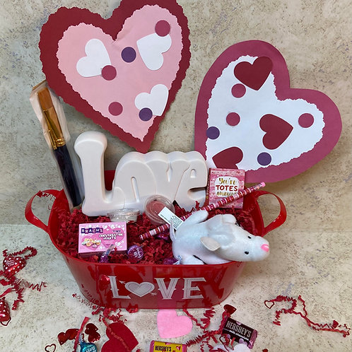 Valentine Themed Buckets