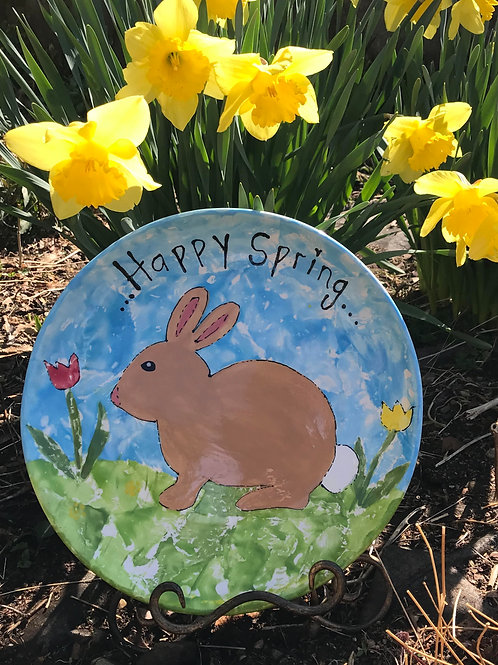 Happy Spring Plate