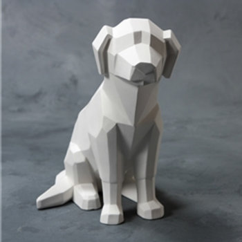 Faceted Dog  9.5H x 9.5L x 5.75W
