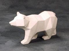 Faceted Bear  9.75 in.L x 3.75 in.W x 5.25 in. H