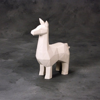 Faceted Llama  7.25 in.L x 3.75 in.W x 9.5 in.H