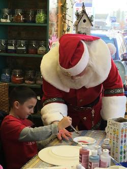 Painting Santa's Hand