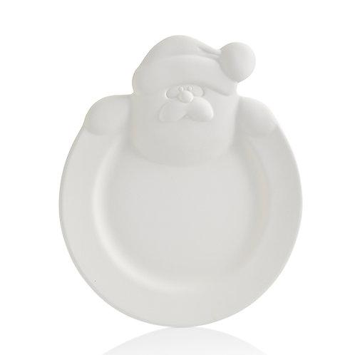 Santa rimmed plate