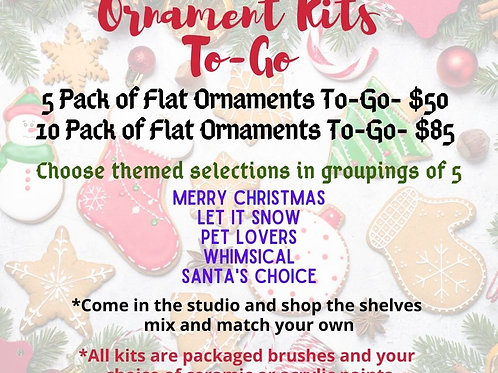 10 Pack -Ornament To-Go Kits