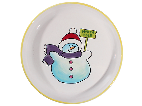 Snowman Lined Plate