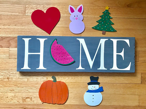 Interchangeable Seasonal Sign