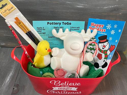 Santa Buckets (Pottery not included)