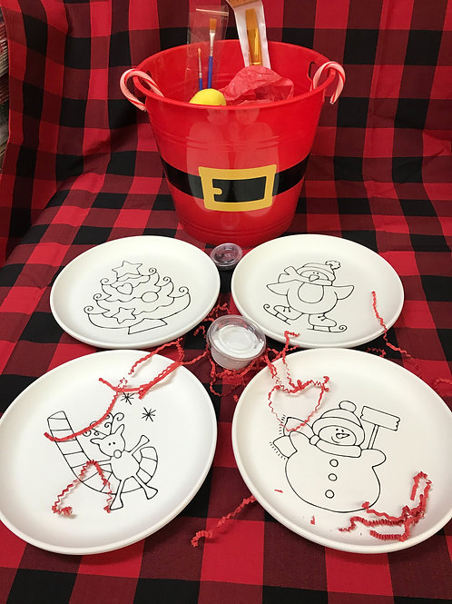 Holiday Coloring Book 4 Plate Bucket