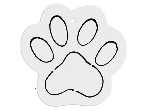 Dog Paw with Lines