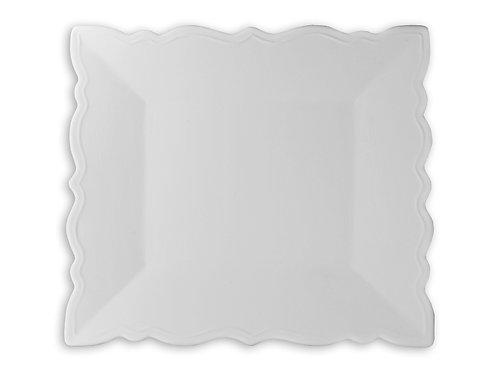 """Square Ruffled Platter 9"""" L x 7 ¾"""" W x ¾"""" H"""