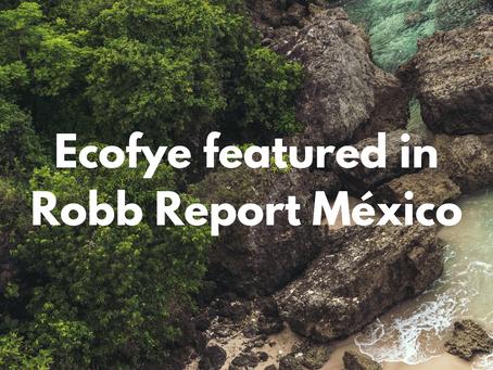 Ecofye featured in Robb Report México