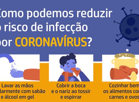 Como podemos reduzir o risco de infecção do Coronavírus