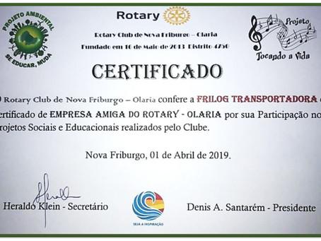 Empresa amiga do Rotary