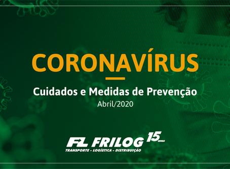 Medidas de prevenção ao Coronavírus