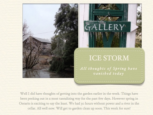 Photos from the April Ice Storm! April 15, 2013