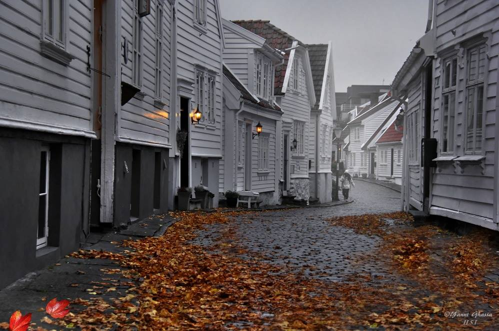 Downtown Stavanger in the fall