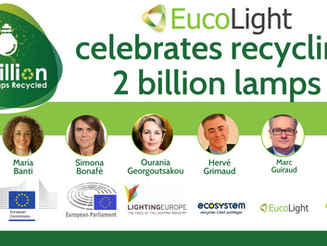 EUCOLIGHT members reach two billion recycled lamps across Europe