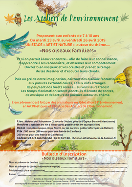 Stage Ateliers de l'Environnement 2019