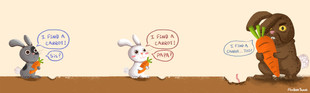 I find a carrot!