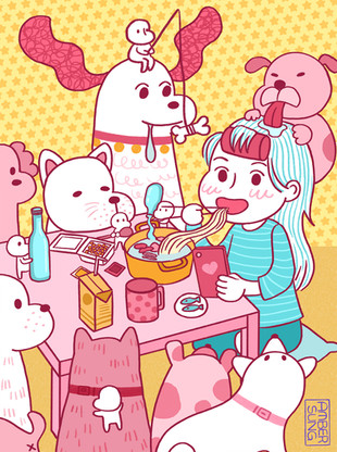 Eating Lunch with buddies