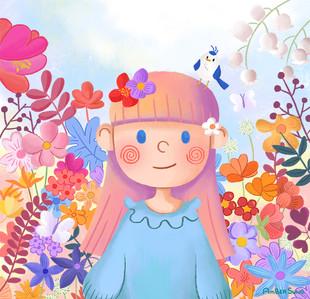 Flower Blossom Girl