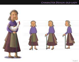 Characrer Design- Old Lady