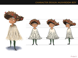 Characrer Design- Mushroom Boy
