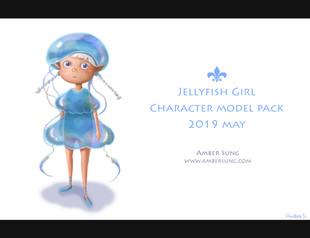 Characrer Design- Jelly Fish Girl
