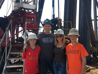 Kara, Rob, Daniel and myself on a rig close to town.