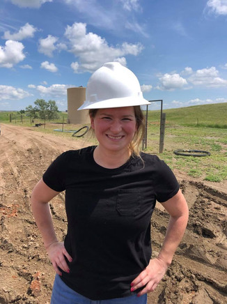 My daughter Dixie visited the rig and got given a hard hat!