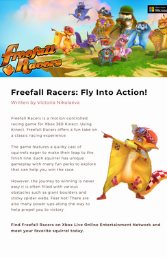 Freefall Racers Fly Into Action! (Sample Blog Post)