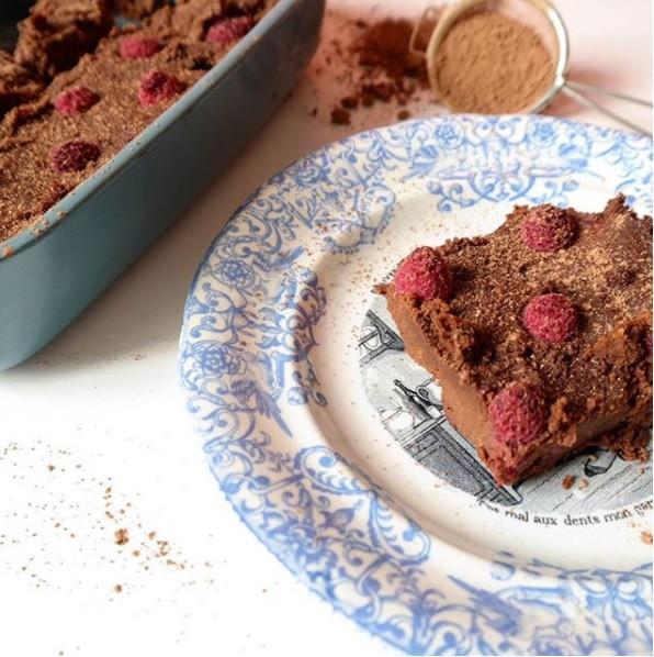 frambuazlı paleo brownie