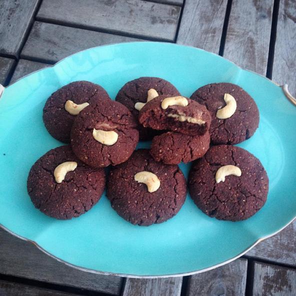 Kakaolu fıstık ezmeli kurabiye