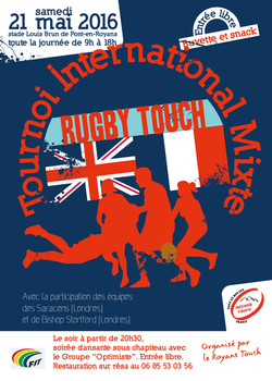 Affiche rugby touch