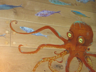Fantastic artwork for new fish restaurant