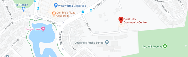Cecil Hills Community Centre Map.png