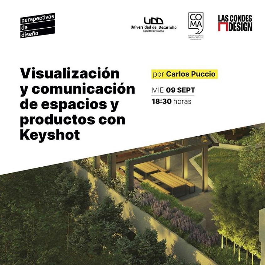 """""""Visualización y comunicación de espacios y productos con Keyshot"""" por Carlos Puccio"""