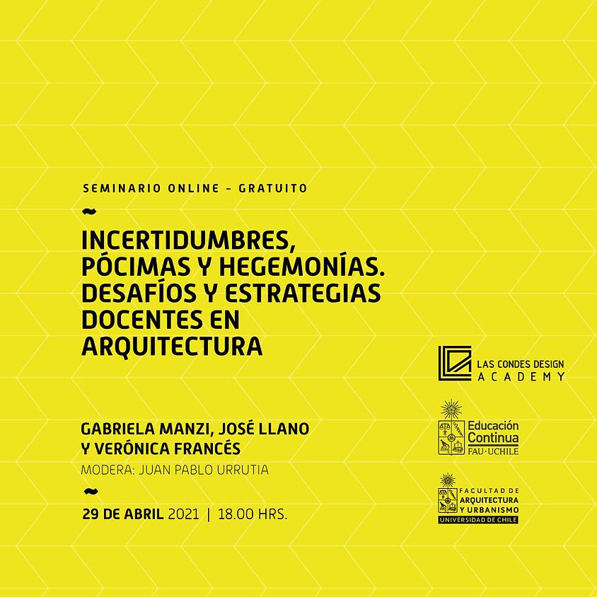 """MasterClass FAU: """"Incertidumbres, pócimas y hegemonías. Desafíos y estrategias docentes en arquitectura"""""""