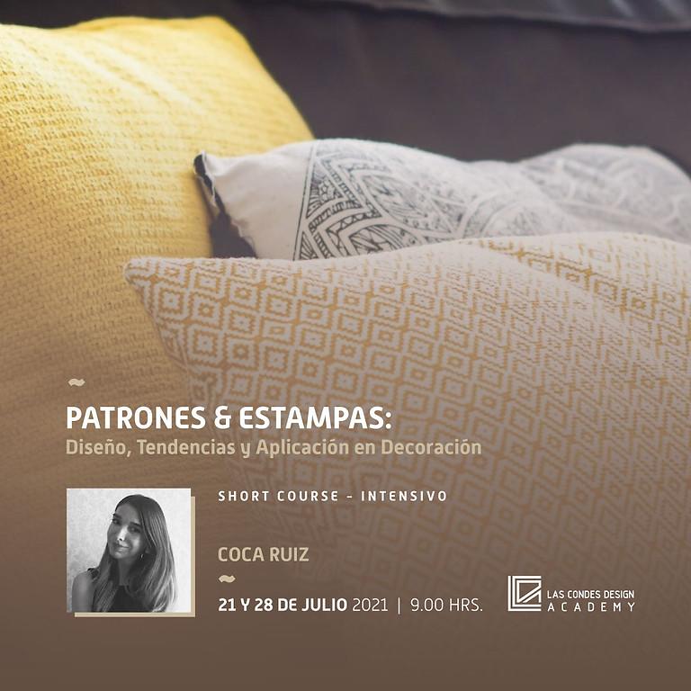 """""""Patrones & Estampas: Diseño, Tendencias y Aplicación en Decoración"""" por Coca Ruiz"""
