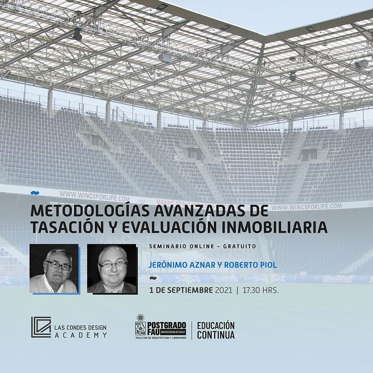 """MasterClass FAU: """"Metodologías Avanzadas de Tasación y Evaluación Inmobiliaria"""" por Jerónimo Aznar y Roberto Piol"""