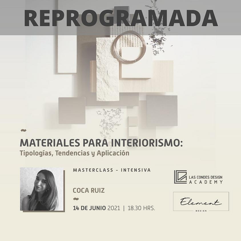"""""""Materiales para Interiorismo: Tipologías, Tendencias y Aplicación"""" Por Coca Ruiz"""